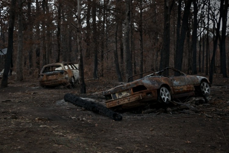 """Wildfire —Cars"" from the series, Natural Order, photographed by David Kimelman"