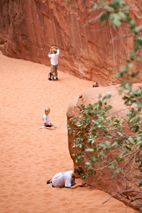 """Red Rock Family"" from the series, Natural Order, photographed by David Kimelman"