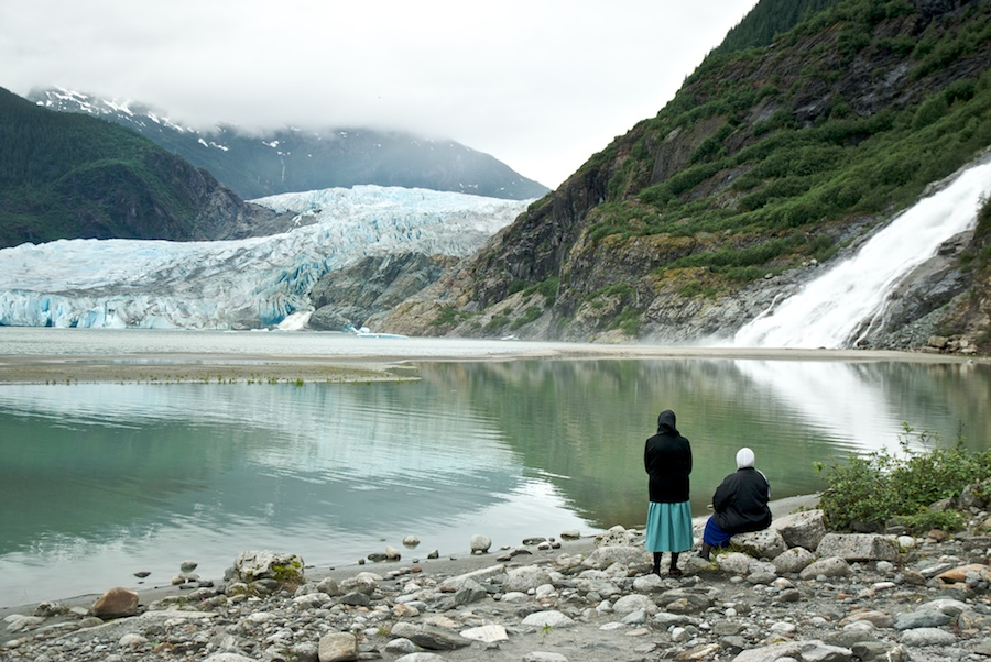 """Two Mennonites Watch A Glacier Melt"" from the series Natural Order, photographed by David Kimelman"