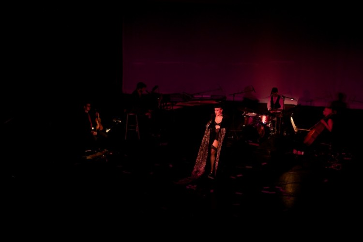 Joey Arias performs at Weimar New York for Obama, by David Kimelman
