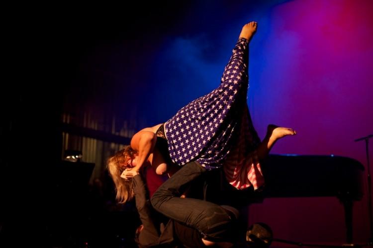Bridget Everette performs at Weimar New York for Obama, by David Kimelman