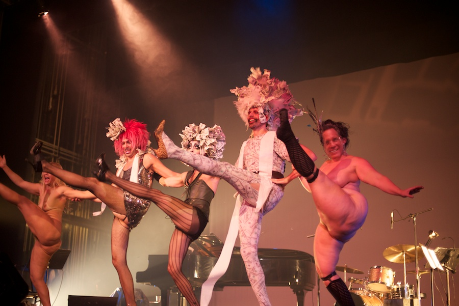 The Pixie Harlots, Julie Atlas Muz and Dirty Martini perform at Weimar New York for Obama, by David Kimelman