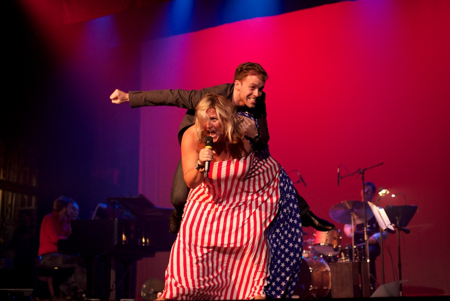 Bridget Everette performs at Weimar New York for Obama, by David Kimelman
