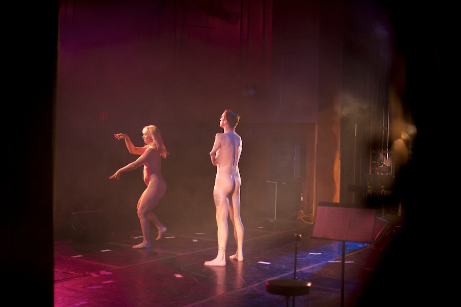 Julie Atlas Muz and Mat Fraser perform at Weimar New York for Obama, by David Kimelman