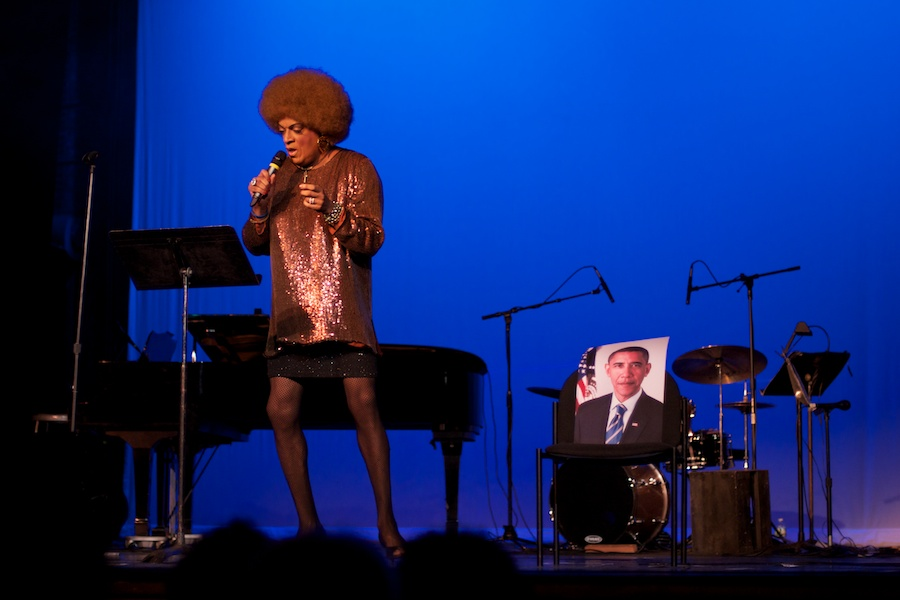 Flotilla Debarge performs at Weimar New York for Obama, by David Kimelman