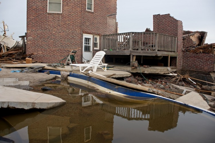 Super Storm Sandy Aftermath -- Belle Harbor & Jacob Riis Beach
