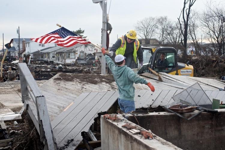 Super Storm Sandy Aftermath -- Breezy Point